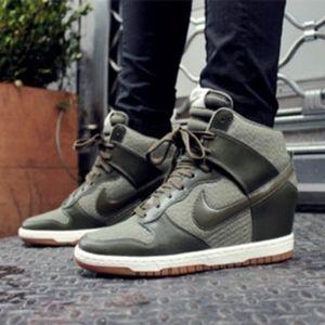 Nike Dunk Sky Hi Essential Green Wedges